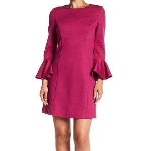 Trina Turk Panache Ruffle Sleeve Cuff Dress